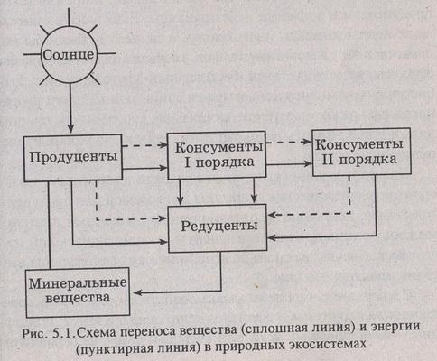Схема переноса вещества